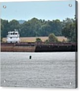 Barge On Tennessee River At Shiloh National Military Park Acrylic Print