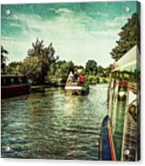 10946 Cruising On The Grand Union Canal Acrylic Print