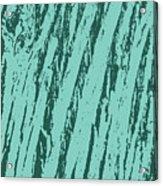 Bark Texture Turquoise Acrylic Print