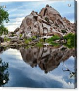 Barker Dam Reflection Acrylic Print