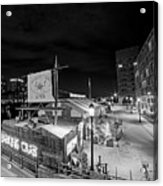 Barking Crab Boston Ma Black And White Acrylic Print
