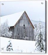 Barn After Snow Acrylic Print