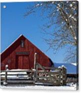Barn And Blue Sky Acrylic Print