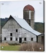 Barn And Silo Acrylic Print