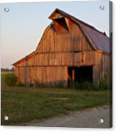 Barn At Early Dawn Acrylic Print