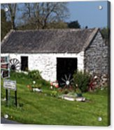 Barn At Fuerty Church Roscommon Ireland Acrylic Print