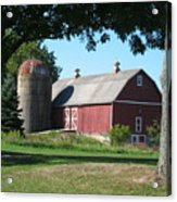 Barn At Leroy Oaks Acrylic Print