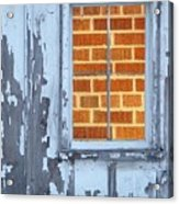 Barn Brick Window Acrylic Print