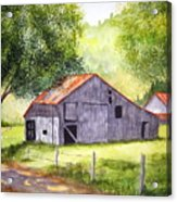 Barn By The Road Acrylic Print