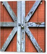 Barn Door 2 Acrylic Print by Dustin K Ryan