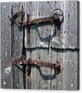 Barn Door Latches Acrylic Print
