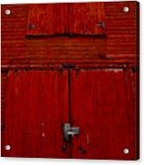 Barn Doors Acrylic Print