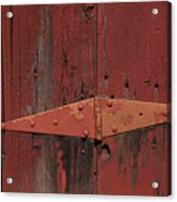 Barn Hinge Acrylic Print by Garry Gay