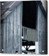 Barn In Blue Acrylic Print