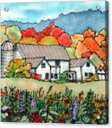 Barn In Pomfret Vermont Acrylic Print