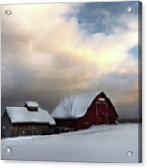 Barn In Solitude Acrylic Print