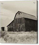Barn In The Grand Tetons Acrylic Print