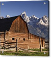Barn In The Mountains Acrylic Print