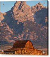 Barn In The Tetons One Acrylic Print