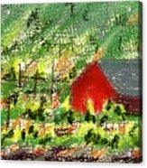 Barn In Vineyard Acrylic Print