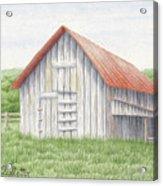 Barn Near Forest Acrylic Print