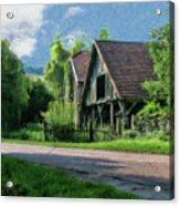 Barn Near Lac De Panthier - P4a160017 Acrylic Print