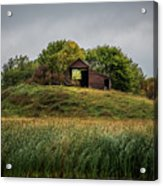 Barn On Hill Acrylic Print