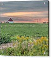 Barn On The Horizon  Acrylic Print