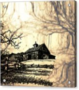 Barn Out Back 2 Acrylic Print by Cheryl Young