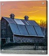 Barn Sunset Acrylic Print