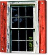 Barn Window Closeup At Old World Wisconsin Acrylic Print