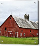 Barn With A Cross Acrylic Print