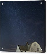 Barn With Milky Way Acrylic Print