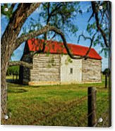Barn With Red Metal Roof Acrylic Print