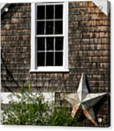 Barn With Star Acrylic Print