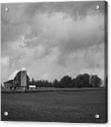 Barn With Storm Clouds Acrylic Print