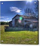 Barn With Sun Flare Acrylic Print