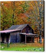 Barn Woodford Mountain Acrylic Print