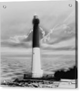 Barnegat Lighthouse In Black And White Acrylic Print