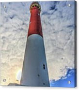 Barnegat Lighthouse In The Clouds Acrylic Print