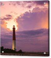 Barnegat Lighthouse Stormy Sunset Acrylic Print