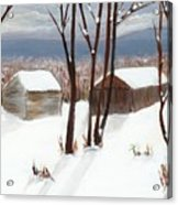 Barns Of West Sand Lake Acrylic Print