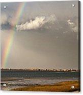 Barnstable Harbor Rainbow Acrylic Print by Charles Harden