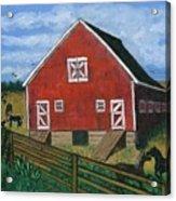 Barnyard on the Prairie Acrylic Print