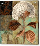 Baroque Hydrangea Patchwork Acrylic Print