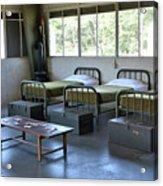 Barrack Interior At Fort Miles - Delaware Acrylic Print