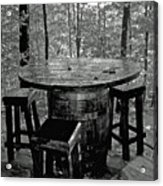 Barrel In The Woods Acrylic Print