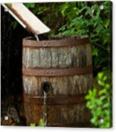 Barrel Of Water Acrylic Print