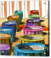Barrels Of Color Acrylic Print