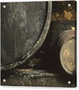 Barrels Of Wine In A Wine Cellar. France Acrylic Print
